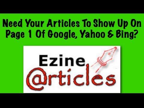 How do i write articles for yahoo