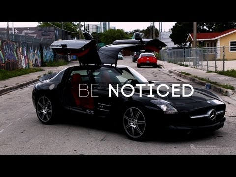 "Rent a Exotic Car Miami. ""Be Noticed"" in the Lou La Vie AMG SLS Supercar"