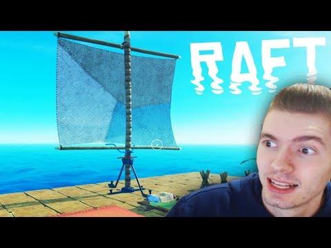 CONSTRUI UMA VELA no MEU BARCO!!! Raft