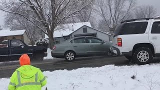 Video Shows Car Pileups Allegedly Caused By Cable Guy's Carelessness