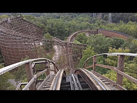 The Beast Wooden Roller Coaster (Front Seat HD POV) – Kings Island