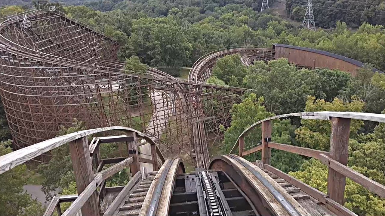 The Beast Wooden Roller Coaster Front Seat Hd Pov Kings Island