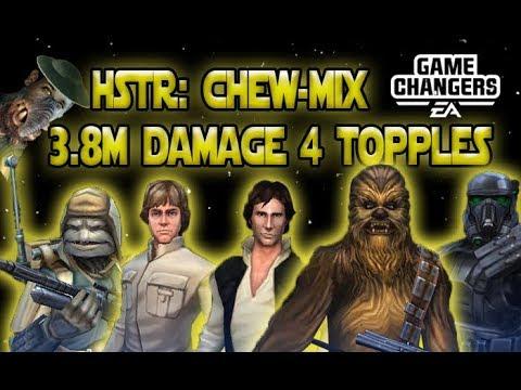 cheW-Mix 3.8million damage 4 topples HSTR phase 3 - SWGOH