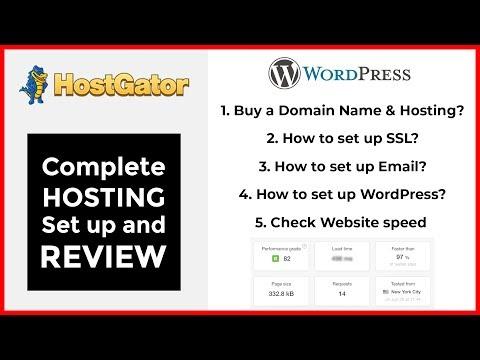 HostGator Shared Hosting review & setup in 2018 | Domain, hosting, SSL, Email Setup & Speed Test