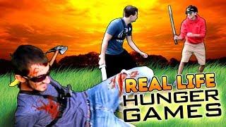 REAL LIFE HUNGER GAMES CHALLENGE!  (Nerf Guns & Nerf Swords)