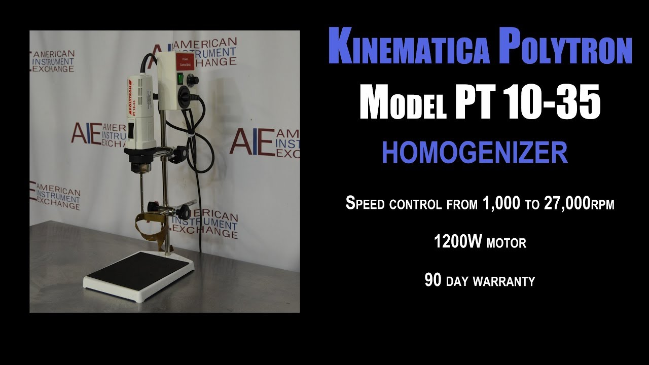Kinematica Polytron Model Pt 10 35 Genizer 124d Cell Dis American Instrument Exchange