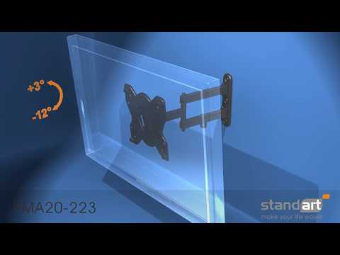 Televizoriaus laikiklio Standart KMA20 223 montavimas