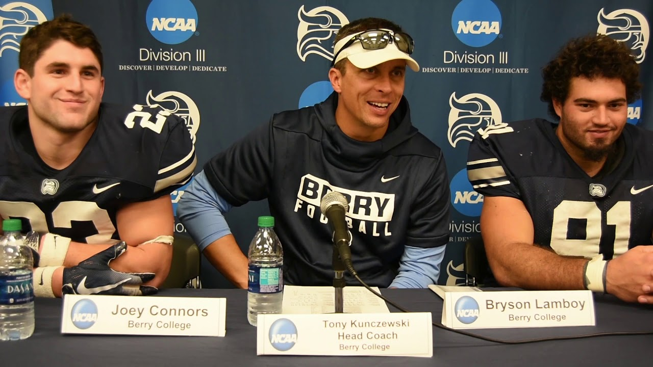 Ncaa D3 Football Playoffs Berry Round One Interview Youtube
