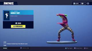 Fortnite: Battle Royale - New Emote - Work It Out (Zoey Skin)