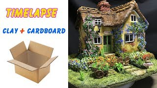 TIMELAPS VERSION  : Build a Clay Cottage using DAS clay and Cardboard