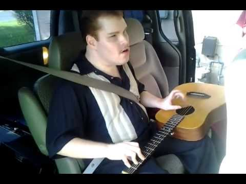 Tony Drake (Blind and autistic) singing and playing guitar - Unchained Melody