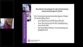 Neues Datenschutzgesetz der EKD, Aufzeichnung eines Webinars vom 14.8.18