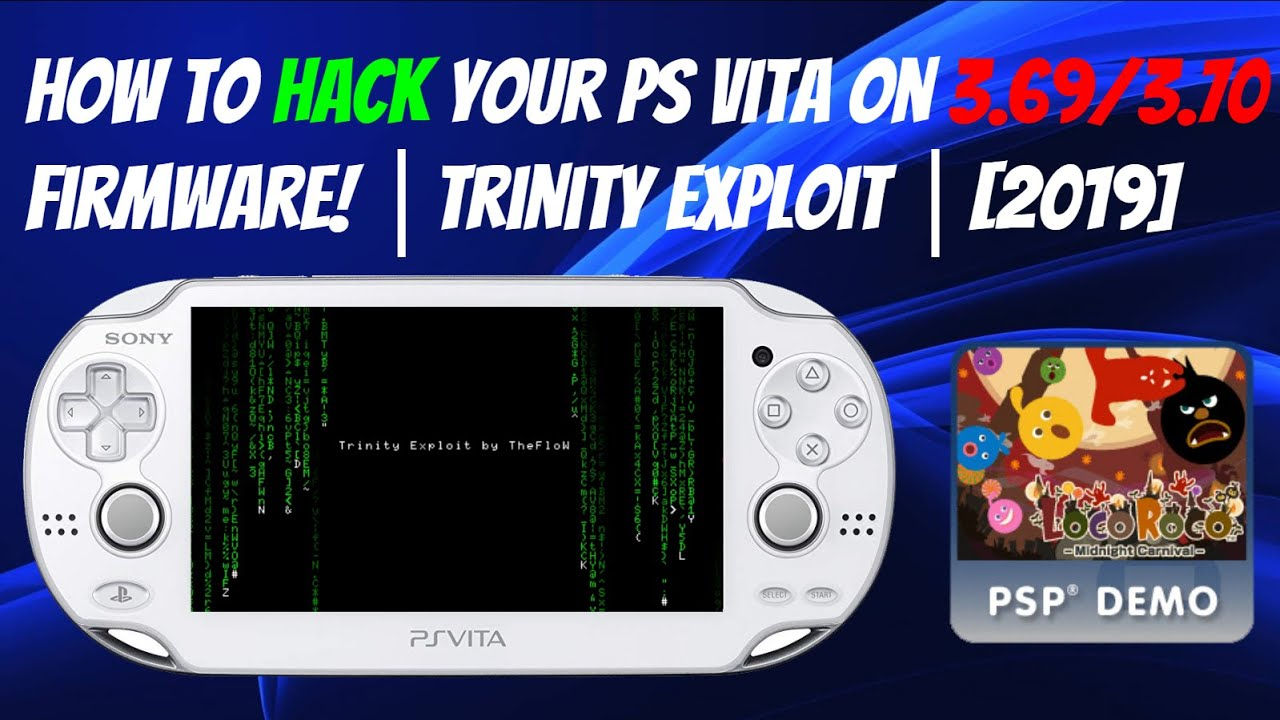 How To Hack Your PS Vita On 3 69/3 70 Firmware! │Trinity Exploit │[2019]