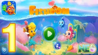 Fishdom: Gameplay Walkthrough Part 1 - Level 1-5 Completed (iOS, Android) screenshot 1