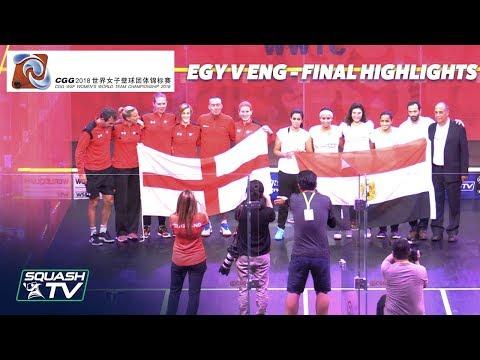 Squash: Egypt v England - Women\'s World Team Champs 2018 - Final Highlights