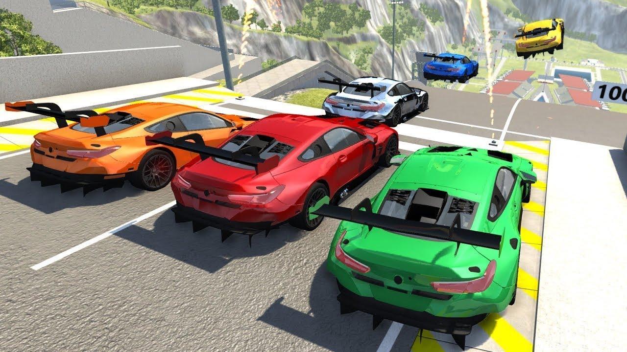 Cars vs Big Ramp Jumps – BeamNG.Drive Jumping Crashes