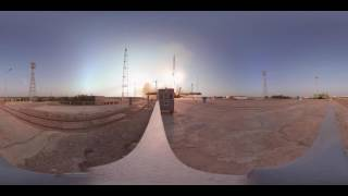 Blast Off: 360 view of upgraded Soyuz rocket brining new crew to Intl Space Station