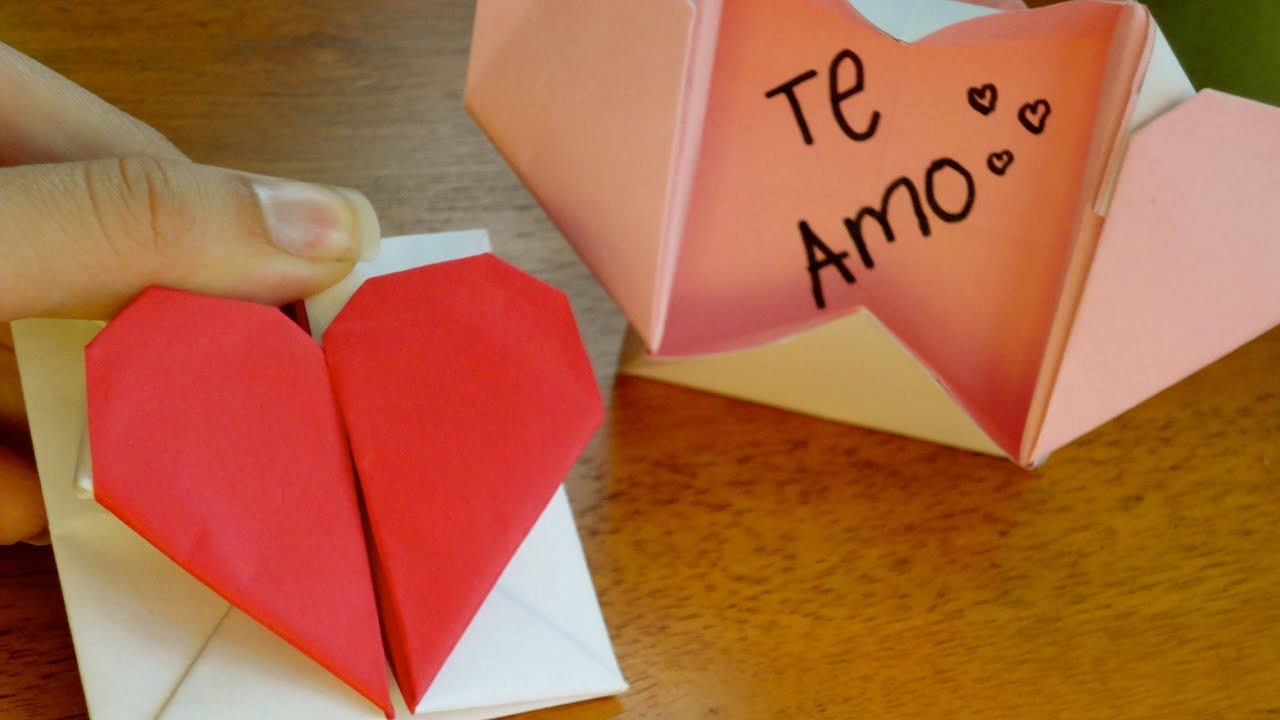 Corazon carta san valentin tutorial youtube - Corazones de san valentin ...