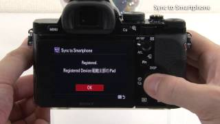 "PlayMemories Camera Apps  ""Sync to Smartphone"" video tutorial for iPhone/iPad"