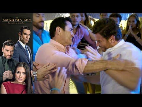 ¡Carlos y Ricardo pelean por Alejandra! | Por amar sin ley - Televisa
