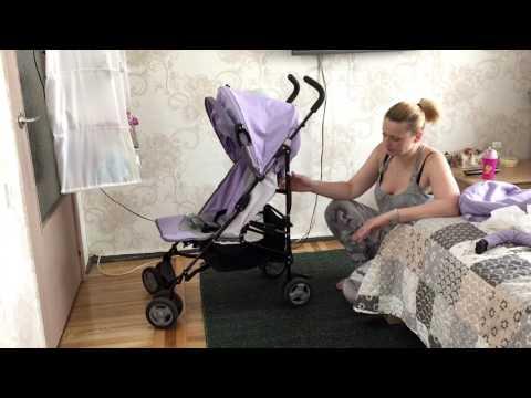 Как раскладывается коляска трость