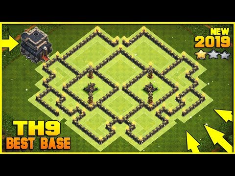 INSANE Town Hall 9 (TH9) TROPHY Base 2019!! New BEST TH9 Base Design/Layout/Defense Clash Of Clans