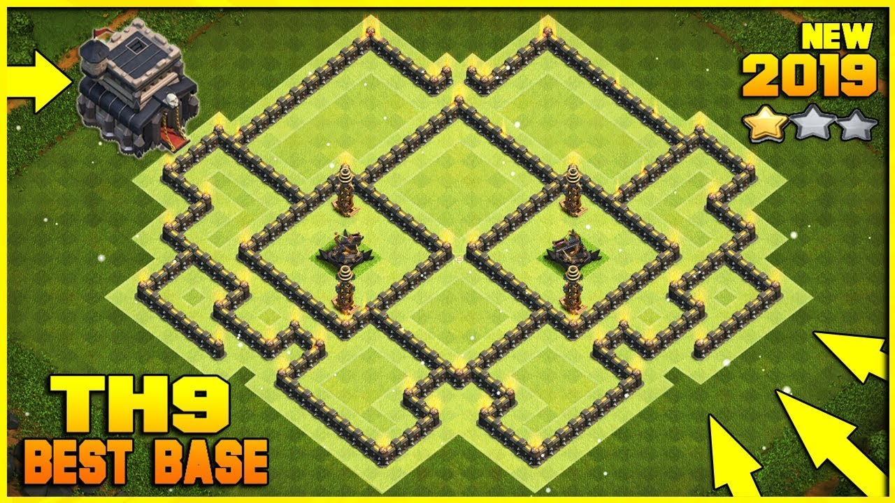 Base Coc Th 9 Defense 2