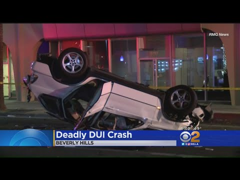 2 Dead, 4 Injured In Possible DUI Rollover Crash In Beverly Hills