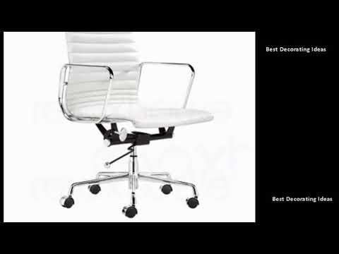 White Desk Chair   White Desk With Polka Dot Chair | Stylish Modern  Interiors U0026 Design Decor