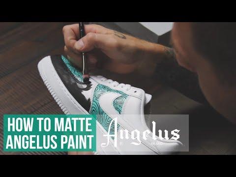 best service 2969e 569da Смотреть видео Custom Nike Air Force 1   How to Matte Angelus Paint онлайн,  скачать на мобильный.