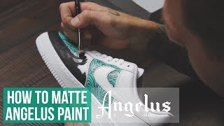 painting shoes with regular paint