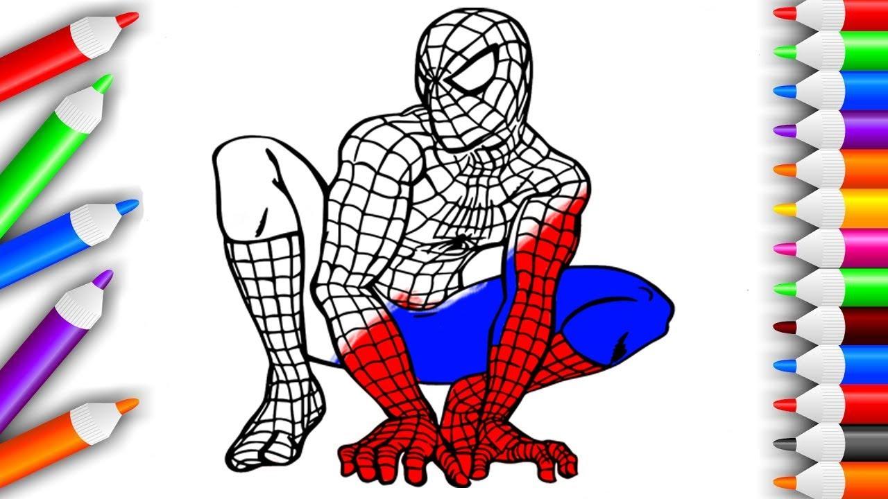 Человек Паук Раскраска Для Детей Развивающее видео для ...