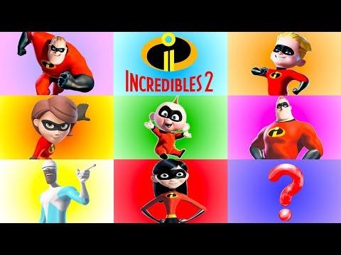 Incredibles 2 Learn Colors Game With Jack Jack, Dash, Violet Toys - Ellie Sparkles