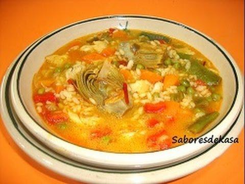 Arroz caldoso con bacalao y verduras youtube - Bacalao con garbanzos y patatas ...