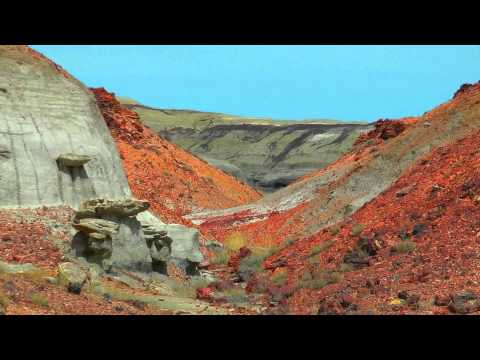 USA colourful bisti & de na zin wilderness area (hd-video)