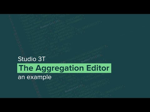 How to Build MongoDB Aggregate Queries with Studio 3T's Aggregation Editor