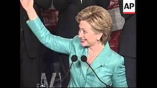 USA: USA: HILLARY CLINTON WINS SENATE SEAT WRAP