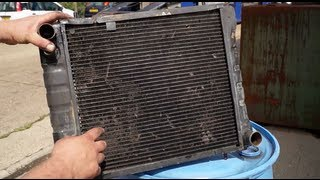 Cooling system maintenance - flushing the radiator core and cooling fins