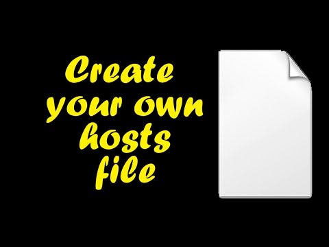 How To Create Your Own Hosts File In Windows 7