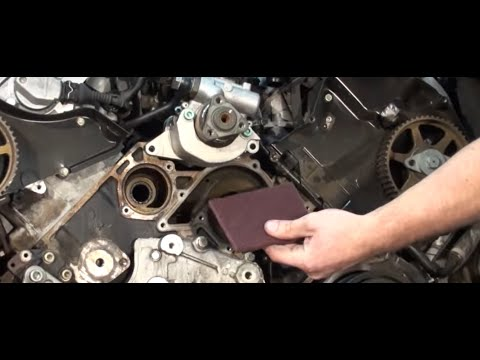 Blauparts How To Prepare an Audi Water Pump Gasket Area ...