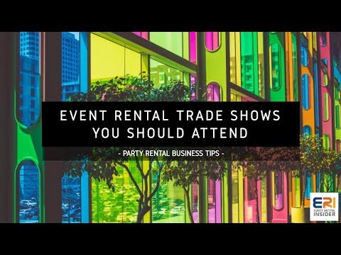 Event Rental Trade Shows You Should Attend | Party Rental Business Tips