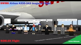 [Vol Roblox] Vol inaugural de l'Airbus A330 de Swiss International Air Lines