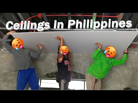 Building our dream house in Philippines. #42 Installing the Gypsum board ceilings. from YouTube · Duration:  12 minutes 10 seconds