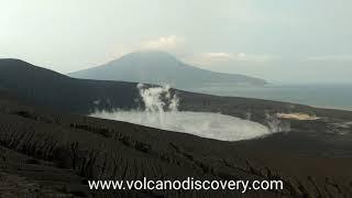 Anak Krakatau Blast Steaming June 2019