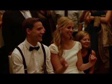 Groom & groomsmen surprise bride with amazing dance routine