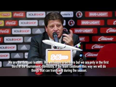 Herrera press conference post Aug. 12 Leon match.