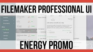 FileMaker UI Sample: Energy | Summary | FileMaker Pro 16 Video…