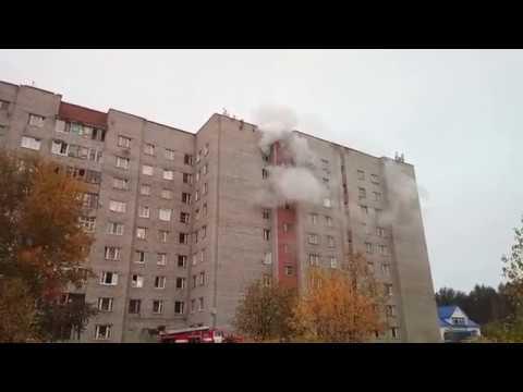 Очередной пожар в здании общежития Планета город Лесной, улица Мира, дом 8,  18 ч. 35 м. 09.30.2018