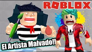 The Evil Artist in Roblox Escape The Art Store Obby Roblox Karim Games Play