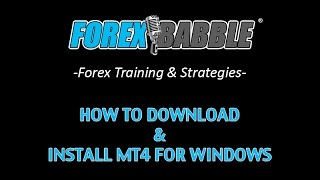 Forex Trading: How To Install MT4 for Windows - Yusef Scott